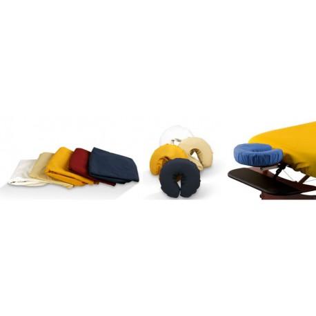 Ochranný obal na polohovací podhlavník spolu s obalom na masážne lehátko