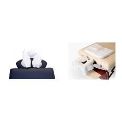 Jednorázová prikrývka podhlavníku masážneho lehátka s rozmerom 39 cm x 32 cm - 75 ks balenie