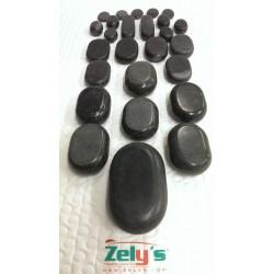 Masážne lávové kamene sada  26 kusov
