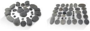 Sada lávových masážnych kameňov